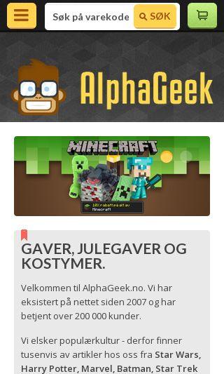 Mobile preview of alphageek.no