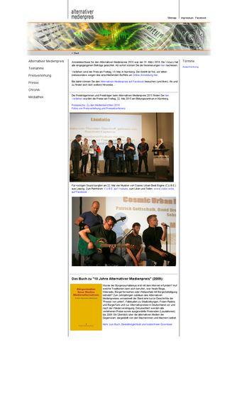 Mobile preview of alternativer-medienpreis.de