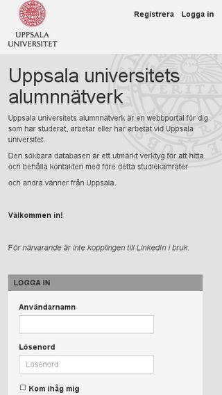 Mobile preview of alumnnatverk.uu.se