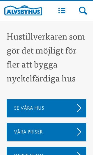 Mobile preview of alvsbyhus.se