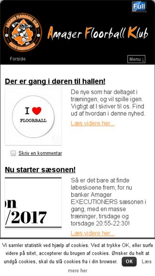 Mobile preview of amagerfk.dk