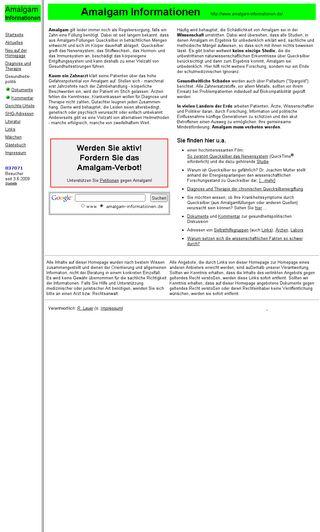 Mobile preview of amalgam-informationen.de