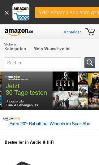 Mobile preview of amazon.de