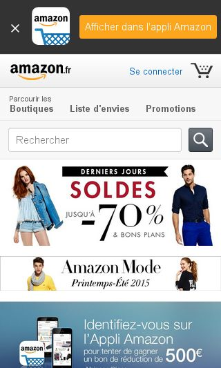 Mobile preview of amazon.fr