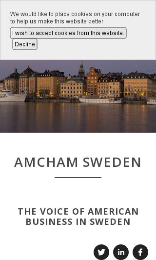 Mobile preview of amcham.se