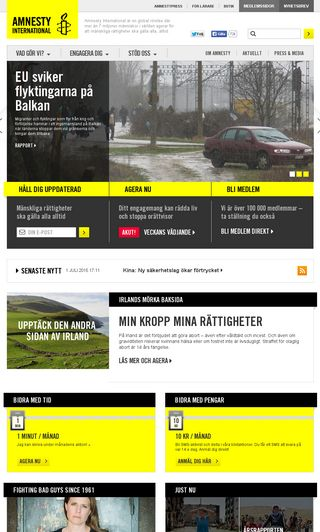 Mobile preview of amnesty.se