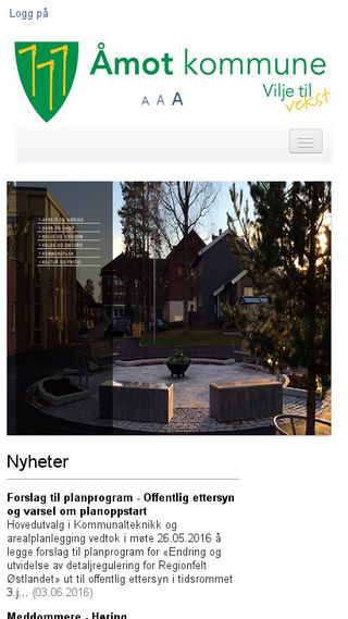 Mobile preview of amot.kommune.no