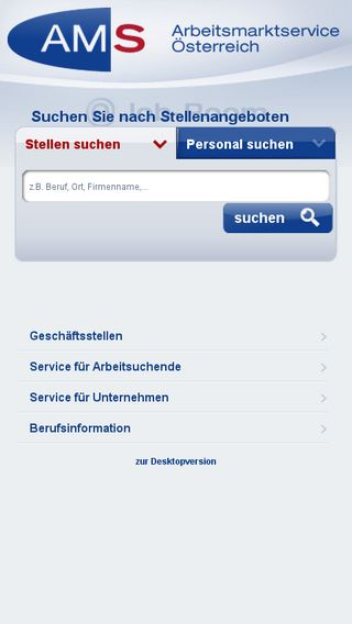 Mobile preview of ams.at