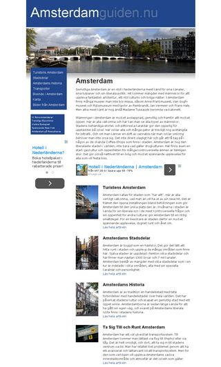 Mobile preview of amsterdamguiden.nu