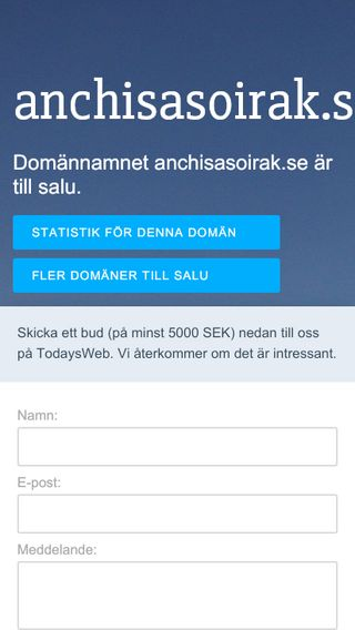 Mobile preview of anchisasoirak.se