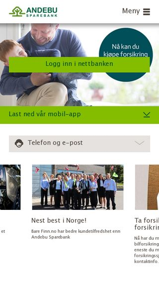Mobile preview of andebu-sparebank.no