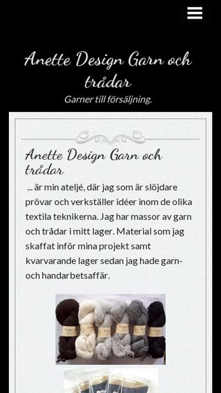 Mobile preview of anettedesign.n.nu