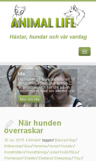 Mobile preview of animallife.se