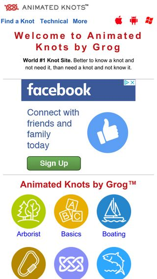 Mobile preview of animatedknots.com