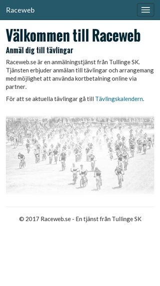 Mobile preview of anmalan.raceweb.se
