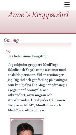 Mobile preview of anneskroppsvard.n.nu
