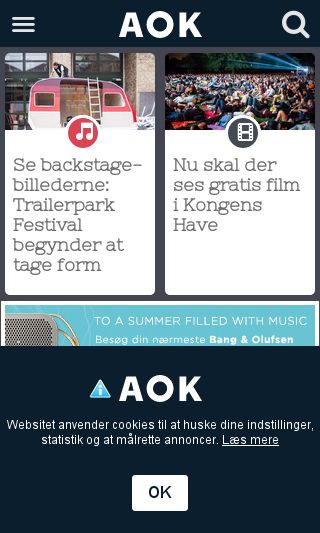 Mobile preview of aok.dk