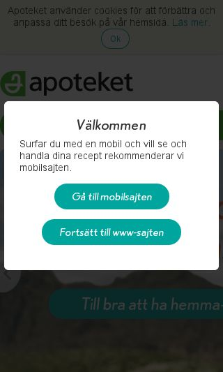 Mobile preview of apoteket.se