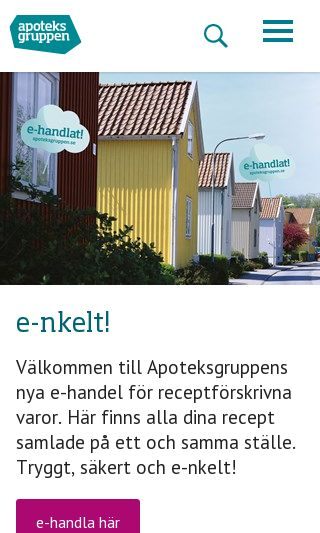 Mobile preview of apoteksgruppen.se