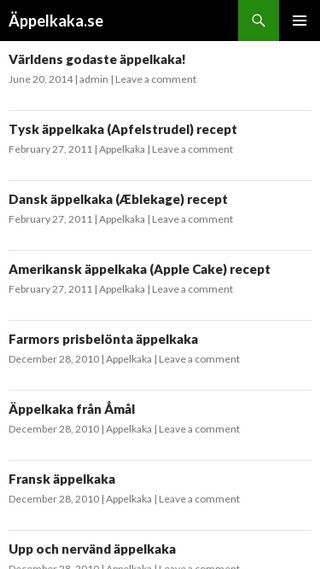 Mobile preview of appelkaka.se