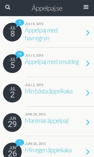 Mobile preview of appelpaj.se