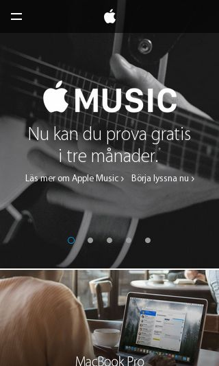 Mobile preview of apple.se