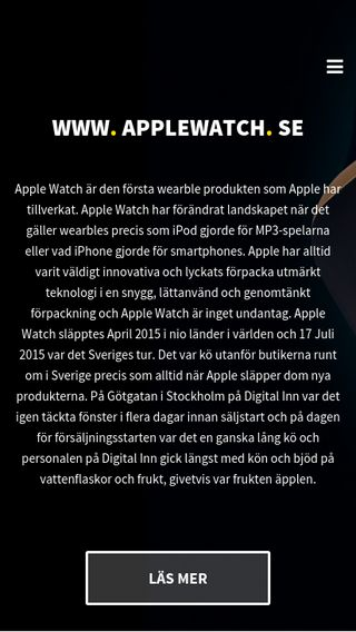 Mobile preview of applewatch.se