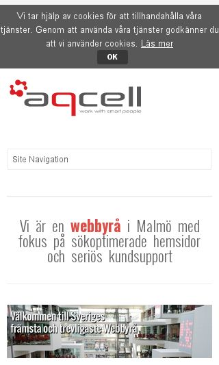 Mobile preview of aqcell.se
