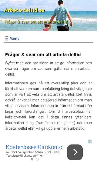 Mobile preview of arbeta-deltid.se