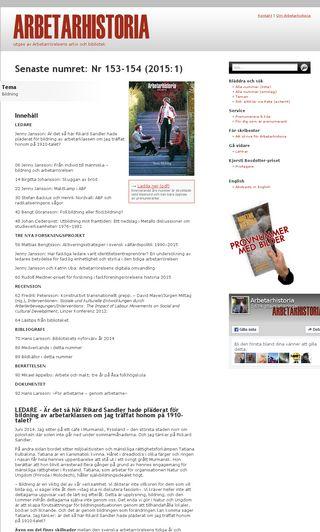 Mobile preview of arbetarhistoria.se