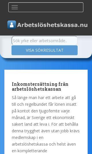 Mobile preview of arbetsloshetskassa.nu