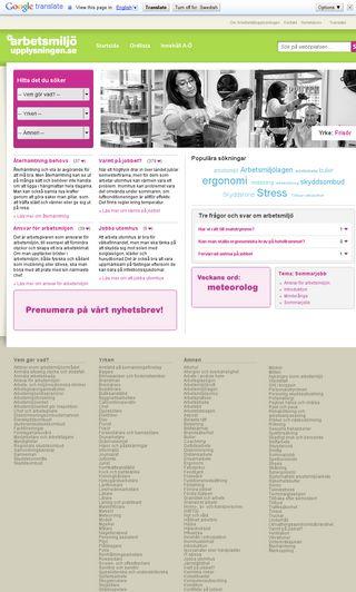 Mobile preview of arbetsmiljoupplysningen.se