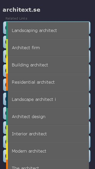 Mobile preview of architext.se