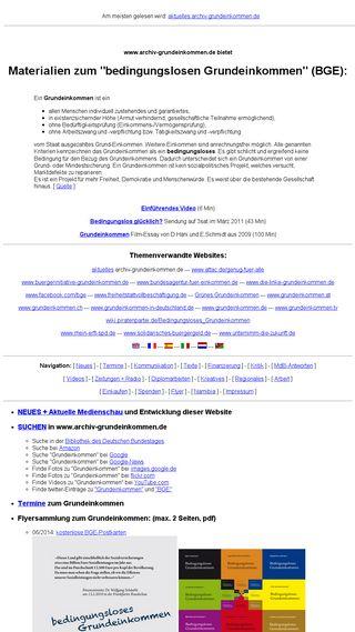 Mobile preview of archiv-grundeinkommen.de