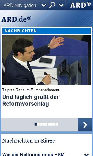 Mobile preview of ard.de