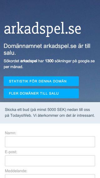 Mobile preview of arkadspel.se