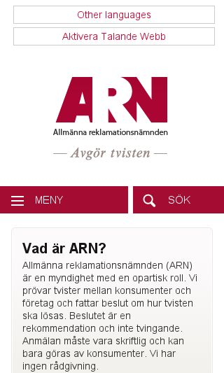 Mobile preview of arn.se