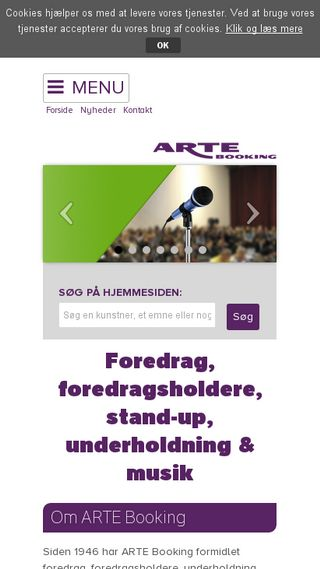 Mobile preview of artebooking.dk