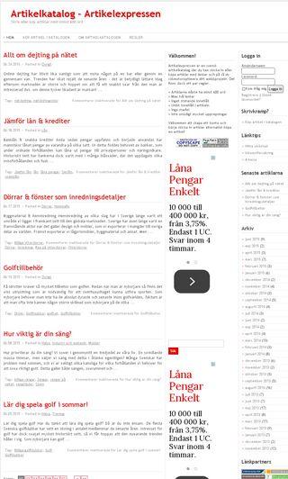 Mobile preview of artikelexpressen.se