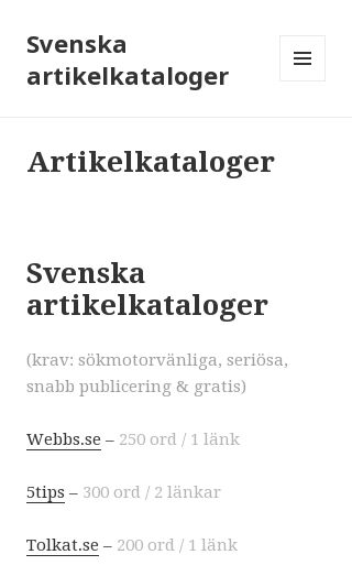 Mobile preview of artikelkataloger.se