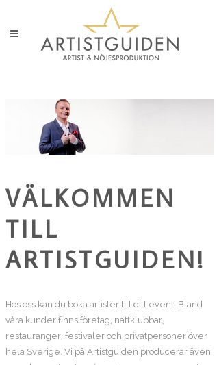 Mobile preview of artistguiden.se