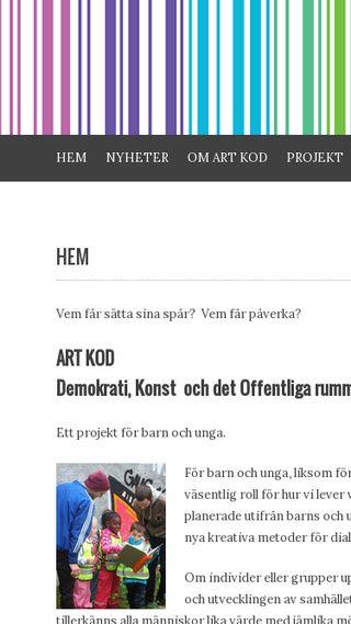 Mobile preview of artkod.se