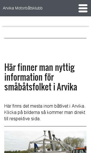 Mobile preview of arvikamotorbatsklubb.se