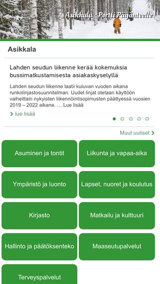 Mobile preview of asikkala.fi