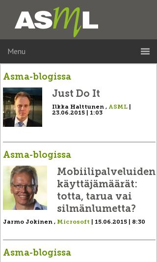 Mobile preview of asml.fi