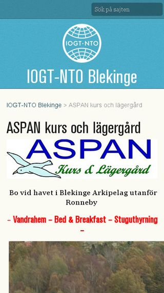 Mobile preview of aspan.se