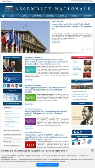 Mobile preview of assemblee-nationale.fr