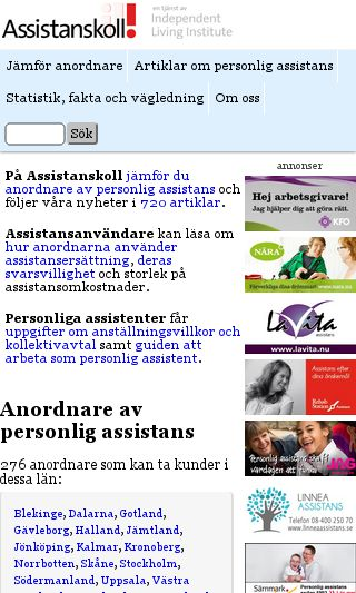 Mobile preview of assistanskoll.se