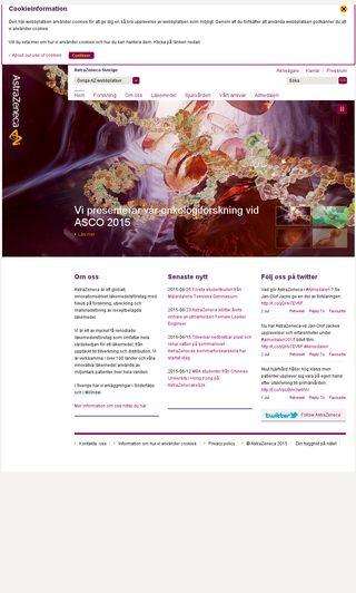 Mobile preview of astrazeneca.se