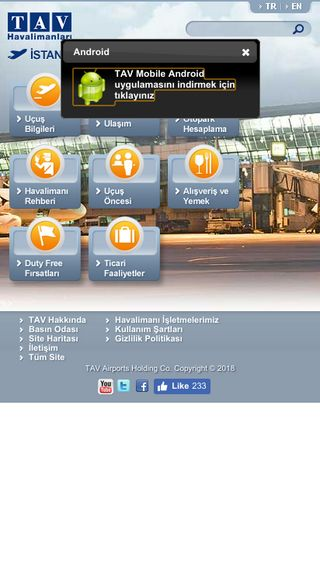 Mobile preview of ataturkairport.com